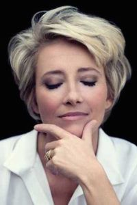 very very short hair for women over 50 ~ I love the way Emma Thompson's hair looks at this length and she is one of those women that gets prettier with time!