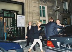THE RITZ HOTEL, PARIS.  PRINCESS DIANA. Diana was photographed leaving the  Ritz just before she was killed in the car crash in the Alma tunnel.