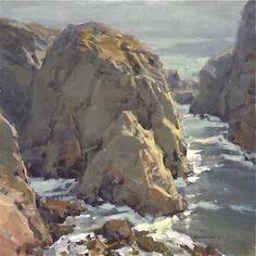 Along the Shore. 12 x 12 in, oil on canvas. Scott Christensen