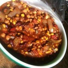 Grandmas Slow Cooker Vegetarian Chili - Allrecipes.com