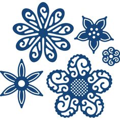 Tattered Lace Delightful Flowers Dies 5 Pieces | Hobbycraft