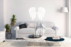 Designing wall stickers inspired by angels. Will be soon in my web shop - first only in Finland. Whisper, Finland, Wall Stickers, The Help, Angels, Couch, Inspired, Children, Shop
