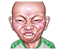 Angry face of children - Creators' Stickers Face Stickers, Funny Stickers, Cartoon Jokes, Cartoon Art, Funny Angry Face, Funny Face Drawings, Chibi Marvel, Baby Icon, Happy Gif