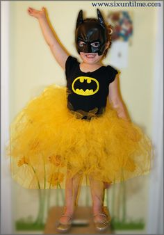 DIY Batman Princess by sixuntilme: Not every princess needs to be from Disney. #DIY #Girls #Batman #Princess