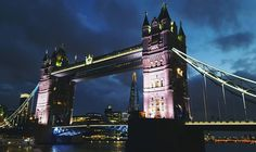 Pretty in pink Tower Bridge, Pretty In Pink, Cool Photos, Instagram Posts, Travel, Viajes, Destinations, Traveling, Trips