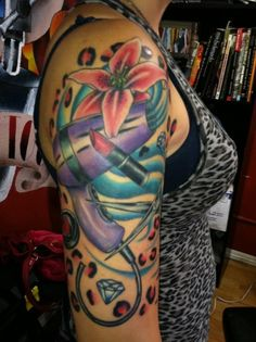 colorful girls tattoo sleves   25 Self Expression Sleeve Tattoo Designs Ideas   TutorialChip