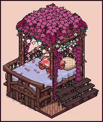 Jungle bed design by Cutiezor on DeviantArt Art Isométrique, Habbo Hotel, Pixel Art Background, Isometric Drawing, 8 Bit Art, Art Tutorials, Retro, Cute Art, Art Inspo