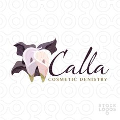 Exclusive Customizable Logo For Sale: Calla Cosmetic Dentistry | StockLogos.com