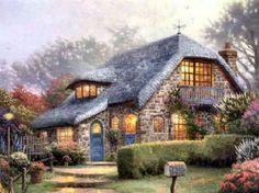cottage by thomas kinkade kinkade