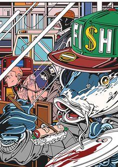 Savage - Pop Art inspired illustration (by RUDCEF). #Digital #Comic #Reverse…