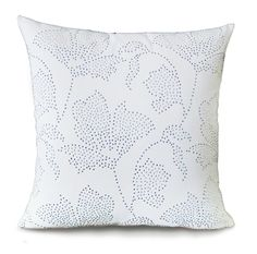 Luminescence Rhinestone Flowers Cotton Throw Pillow