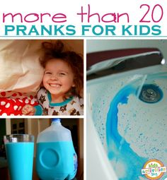 20 kid friendly pranks for April Fools Day April Fools Pranks, April Fools Day, Pranks For Kids, Fun Pranks, Awesome Pranks, Harmless Pranks, Easy Pranks, Little People, Projects For Kids