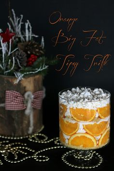 orange big fat tipsy trifle -