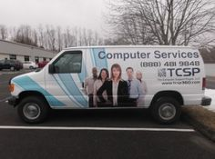The Computer Support People in Stamford, CT with their newly decorated wheels. #cardecal #vehiclegraphic #vehiclewrap