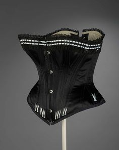 Corset ca. 1880-85  From the ROYAL ONTARIO MUSEUM