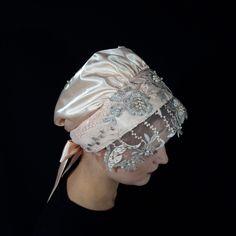 Saténový čepiec s luxusnou krajkou - KLEBOSHI Captain Hat, Hats, Fashion, Moda, Hat, La Mode, Fasion, Fashion Models, Trendy Fashion