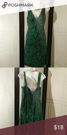 NWOT * Maxi Dress * Beautiful * Green/Brown * Sleeveless * Above Knee * Padded Inserts (Bra Area) * Polyester and Spandex * Bundle and Save Dress Barn Dresses Maxi
