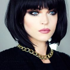 97 best bob haircuts with bangs for beautiful women in 2019 page 19 ~ telorecipe. Black Haircut Styles, Bob Haircut With Bangs, Sexy Bob Haircut, Haircut Short, Medium Bob Hairstyles, Cool Hairstyles, Black Hairstyles, Bob Haircuts, Medium Hair Styles