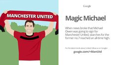 Michael Owen is the star of this Google Trend, which looks at when internet searches for the former @manutd striker peaked.