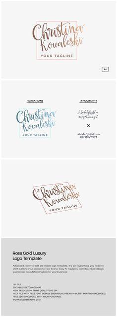 Rose Gold Luxury Brand Logo Template ~ Logo Templates on Creative Market
