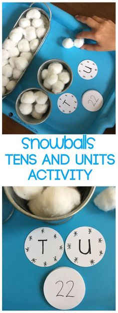 This winter-themed, hands-on place value activity is perfect for math centers in Kindergarten and 1st grade to learn about teen numbers and place value! #kindergarten #firstgrade #teachersfollowteachers #mathcenters