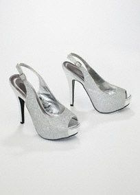 Perfect for a special event or night on the town, this peep toe will add glitz and glamour to any outfit! Style VICE4 #davidsbridal #shoes #homecoming2013