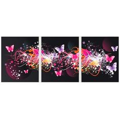 3Pcs DIY Handmade Diamond Painting Set Flying Butterflies Resin Rhinestone Pasted Cross Stitch for Home Decoration 45*35cm
