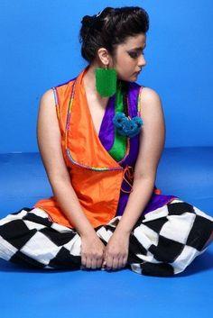 Alia Bhatt in Masaba Gupta rocking a rainbow of colors.