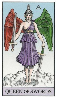 Alchemical Tarot - Queen of Swords