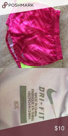 Nike shorts Nike running shorts size 6x. These do have the underwear lining inside. Nike Bottoms Shorts