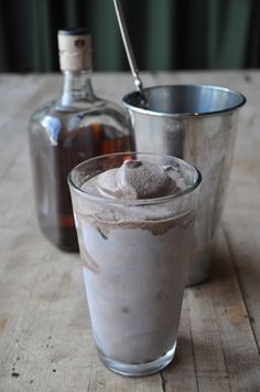 bourbon chocolate milkshake • ben johnson, west egg café, atlanta, ga • imbibe mag • 2 oz. bourbon + 2 oz. chocolate syrup + 1 c. vanilla ice cream • combine all ingredients in a blender and blend until smooth. pour into a 16 oz. pint glass and enjoy.