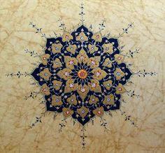 I have to try this-- so beautiful. Islamic Art Pattern, Pattern Art, Mandala Design, Mandala Art, Arabesque, Paisley, Illumination Art, Persian Motifs, Iranian Art