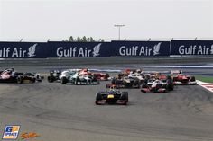 First corner: Vettel, Hamilton and the rest - Bahrain GP 22nd April 2012 #formula1 #f1 #shakir