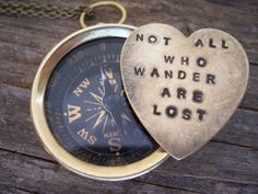 LOTR  Lord of the Rings  working compass - secret message - the Hobbit - hand stamped - you can personalize your own quote as well on Etsy, $28.00