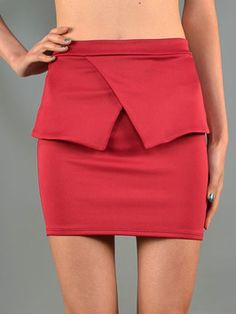 LOVE this little peplum skirt! So easy to dress up or down! #skirt #fashion