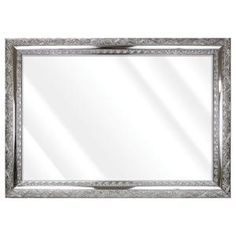Unbranded Large Rectangle Shiny Silver Beveled Glass Art Deco Mirror (42 in. H x 30 in. W)-16775-36-58S - The Home Depot Contemporary Wall Mirrors, Art Deco Mirror, Beveled Glass, Oversized Mirror, Glass Art, Frame, Silver, Elegant, Wood