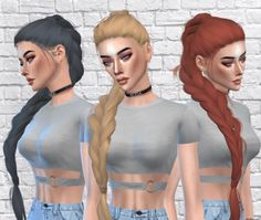 NightDancer Hair Recolor for The Sims 4