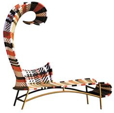 M'Afrique Shadowy Chaise Lounge by Moroso