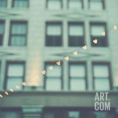 Love Hearts in the Street Photographic Print by Myan Soffia at Art.com