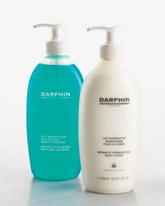 Two of my favorite Darphin products. Bath and shower gel, and body lotion.