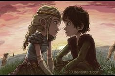 Hiccup and Astrid by kel20.deviantart.com on @DeviantArt