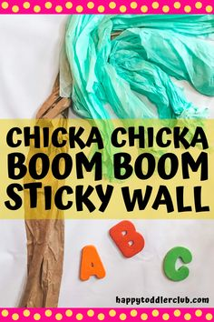 Chicka Chicka Boom Boom is such a fun book, and what better way to read it than with an interactive sticky wall activity? This interactive read aloud activity is the perfect way to increase alphabet awareness with toddlers and preschoolers. Summer Activities For Toddlers, Toddler Activities, Fun Activities, Winter Activities, Toddler Sensory Bins, Toddler Preschool, Sensory Play, Toddler Learning, Toddler Fun