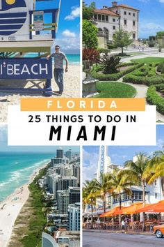 Things to do in Miami: Our top 25 Things to do in Miami Florida include visiting South Beach and Ocean Drive, the outdoor wall murals of Wynwood Walls, Little Havana, Coral Gables, Coconut Grove, Bayside, Biscayne, Sunny Isles, Aventura, Doral, Design Dis Florida Travel Guide, Usa Travel Guide, Travel Usa, Travel Guides, Travel Advice, Beach Travel, Spain Travel, Travel Tips, Florida Beaches