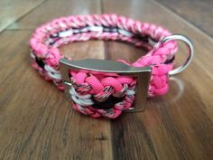 French Bulldog Faces Lanyard Whistle Training Clicker ID Handmade Dog Pink Roses