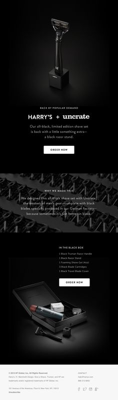 Back in black… by popular demand