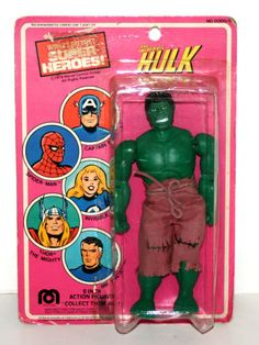 "Vintage 1978 Mego The Incredible Hulk 8"" Action Figure in Original Packaging | eBay"