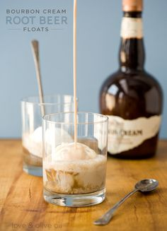 Bourbon Cream Root Beer Floats - sounds magical! via @loveandoliveoil