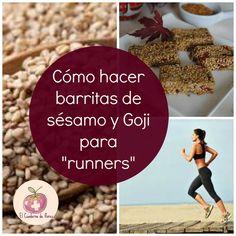 """El Cuaderno de Flores-farmacia, nutrición y vida sana: Barritas de sésamo y Goji naturales, para """"runners..."""