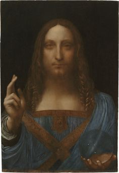 "Leonardo Da Vinci - ""Salvator Mundi"" - In 2011, this magnificent painting was identified as Da Vinci's depiction of Jesus Christ. It is the first Leonardo to be accepted by scholars in more than a century."
