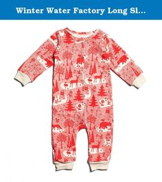Winter Water Factory Long Sleeve French Terry Organic Jumpsuit, Unisex Baby, Winter Forest Red, 18 Months. The perfect one-piece outfit in our classic prints. Winter Water Factory is a Brooklyn-based design and manufacturing company specializing in screen printed textiles and organic kids' clothing. Fresh, bold, and beautiful textile prints are the signature of Winter Water Factory. Every item is crafted from 100% certified organic cotton and is made in the USA from the fabric to the…